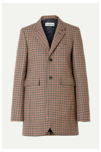 Balenciaga - Checked Wool-blend Blazer - Brown