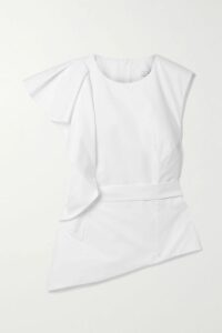 Sacai - Layered Checked Wool And Quilted Shell Coat - Blue