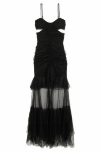 alice McCALL - The Only Exception Cutout Layered Tulle Maxi Dress - Black