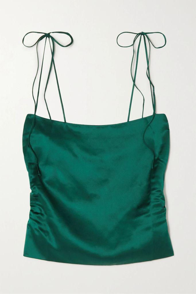 Gucci - Velvet And Grosgrain-trimmed Macramé Lace Midi Skirt - Black