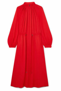 Tibi - Gathered Crepe Midi Dress - medium