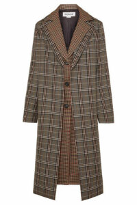 Monse - Layered Checked Wool-blend Coat - Brown