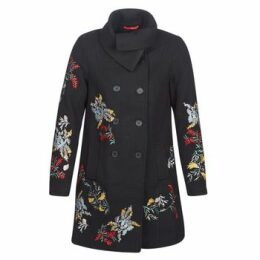 Cream  CODY  women's Coat in Black