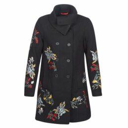 Cream  CODY  women's Coat in Black