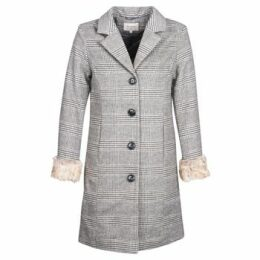 Cream  CHLOE  women's Coat in Grey