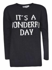 Alberta Ferretti Embroidered Sweater
