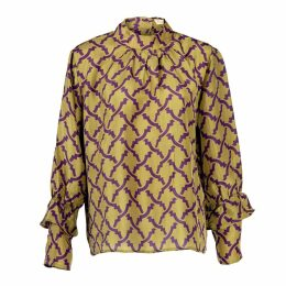 Asneh - Kitty Green Silk Blouse