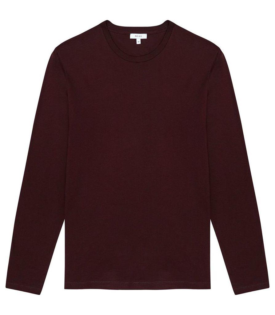 Reiss Bravado - Long Sleeved Top in Bordeaux, Mens, Size XXL