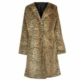 Story of Lola Long Leopard Coat - Nat Leopard