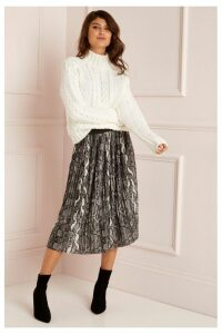 Lipsy Pleated Skirt - 10 - Grey