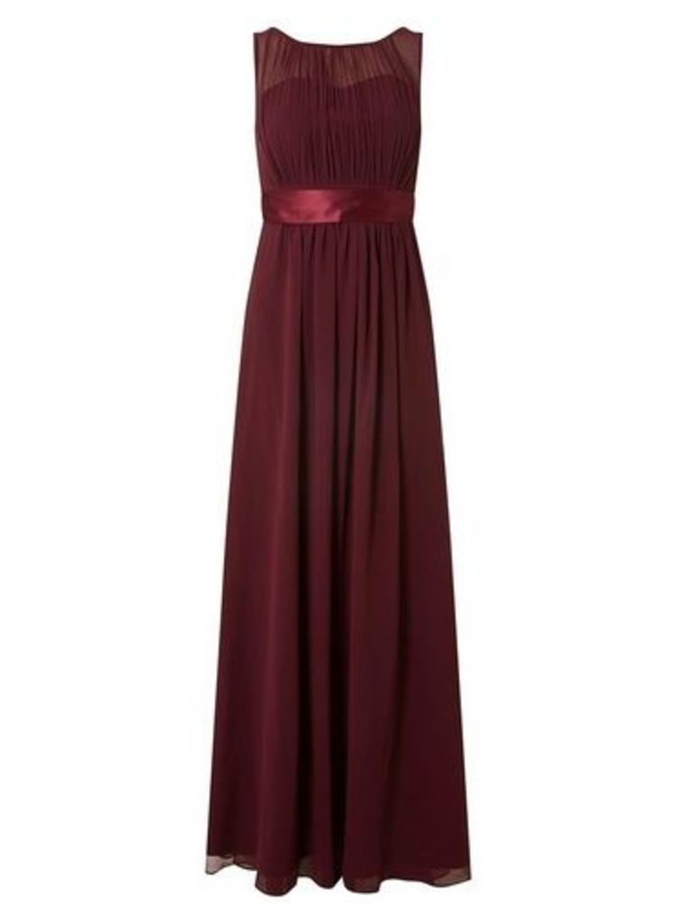 Womens **Showcase Mulberry 'Natalie' Maxi Dress- Red, Red