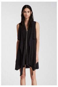 Womens AllSaints Black Jayda Silk Dress -  Black