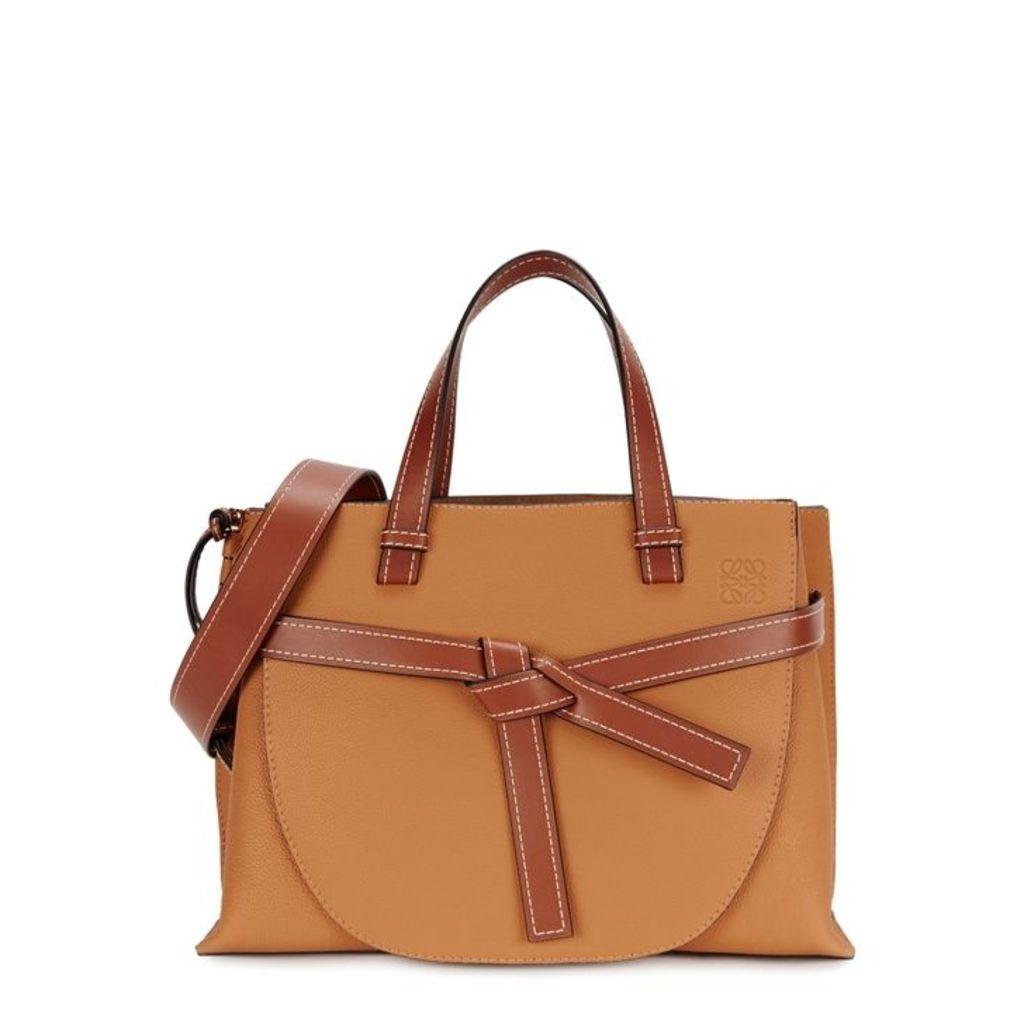Loewe Gate Brown Leather Top Handle Bag