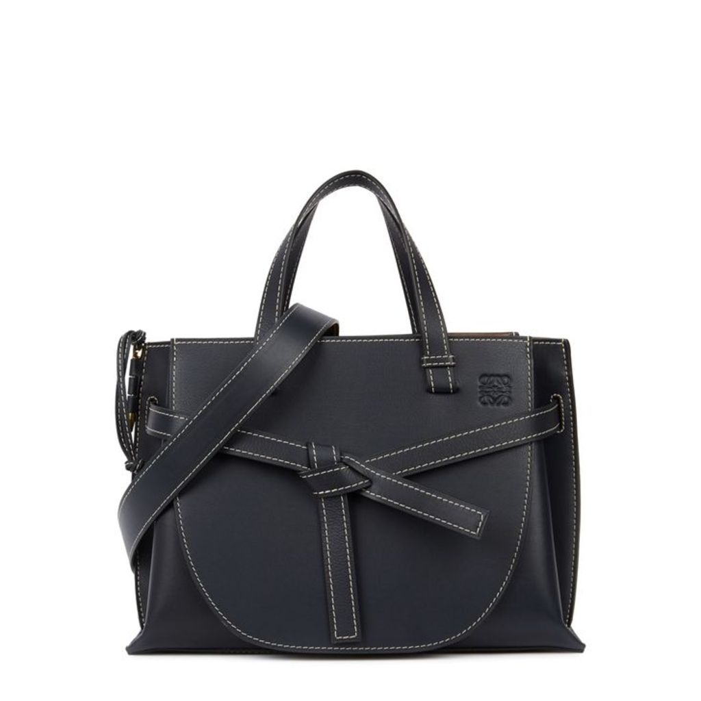 Loewe Gate Midnight Blue Leather Tote