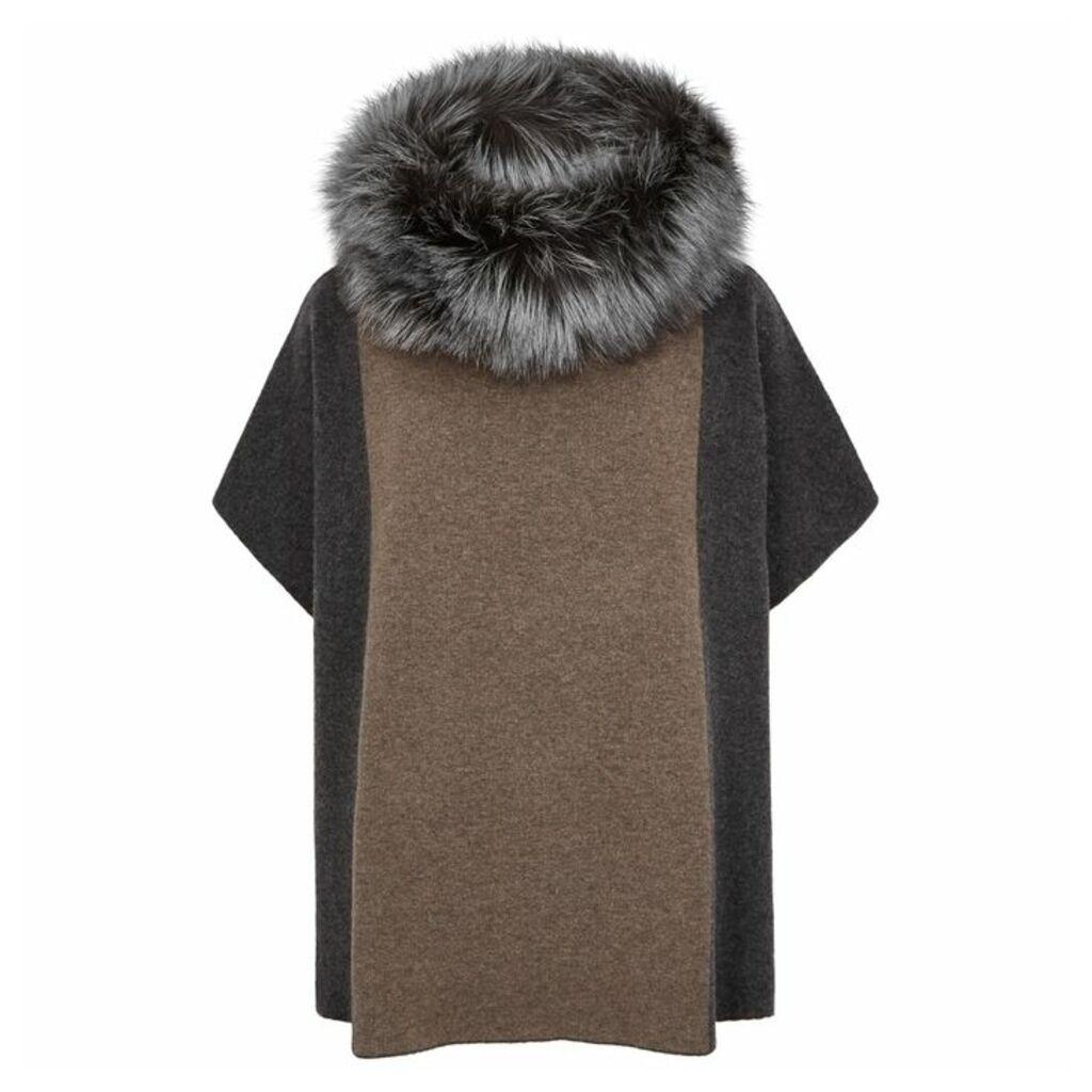 Dom Goor Fur-trimmed Wool-blend Jumper