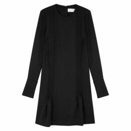 Victoria, Victoria Beckham Black Pleated Crepe Dress