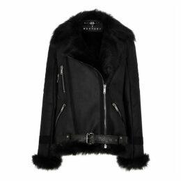 Dom Goor X MERCER7 Black Shearling-lined Leather Jacket