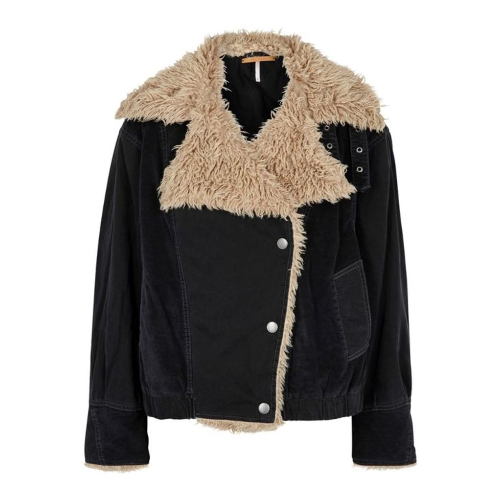 Free People Owen Shearling-lined Jacket