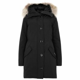 Canada Goose Rossclair Black Fur-trimmed Parka
