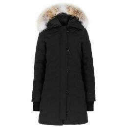 Canada Goose Lorette Black Fur-trimmed Parka