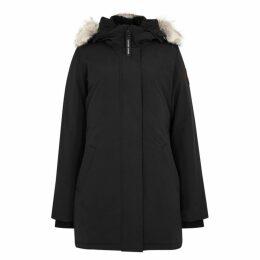 Canada Goose Victoria Black Fur-trimmed Parka