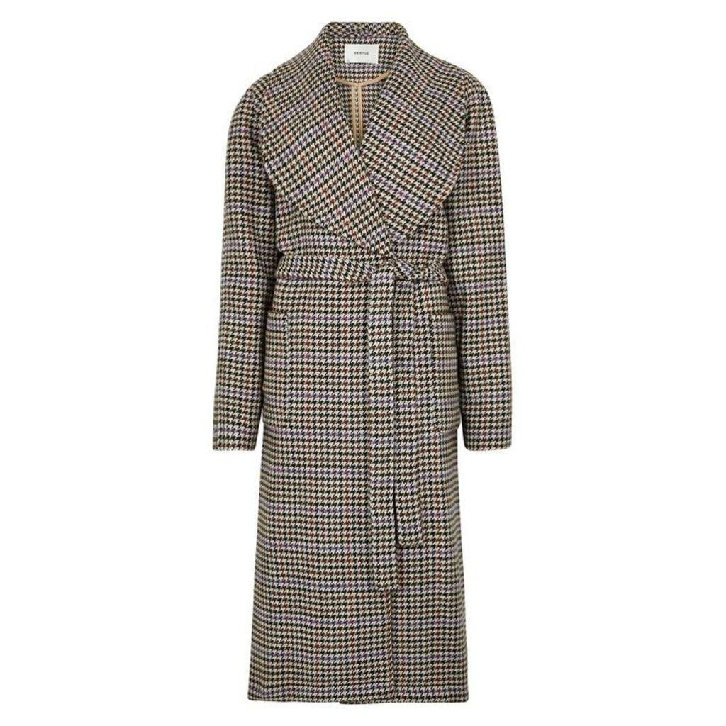 Gestuz Welle Houndstooth Tweed Coat