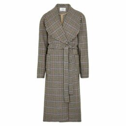 Gestuz Welle Houndstooth Tweed Coat