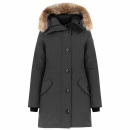 Canada Goose Rossclair Grey Fur-trimmed Parka