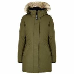 Canada Goose Victoria Army Green Fur-trimmed Parka