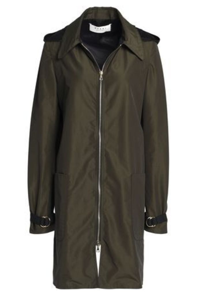 Marni Woman Cotton-blend Hooded Jacket Army Green Size 44