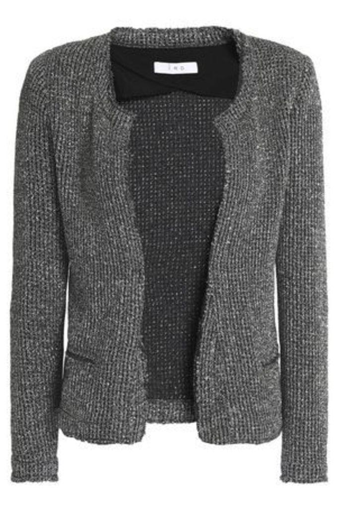 Iro Woman Metallic Knitted Jacket Silver Size 40