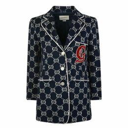 Gucci Gg Print Cotton Blazer
