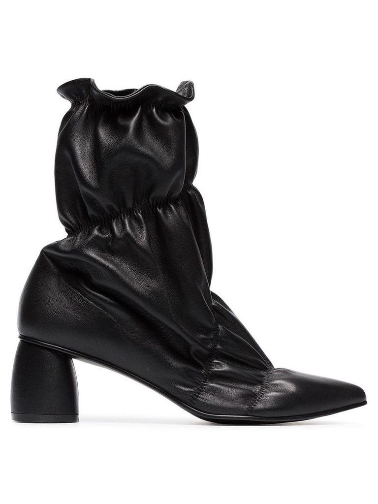 Reike Nen black parachute 60 leather ankle boots