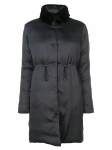 Giambattista Valli detachable collar coat - Black