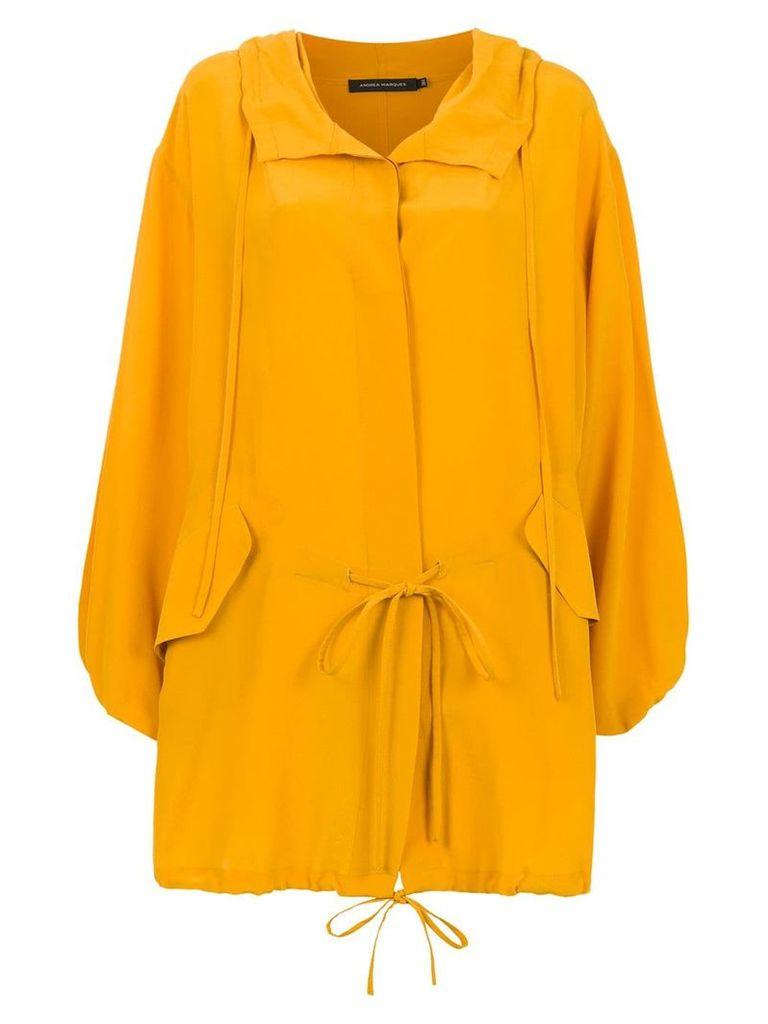 Andrea Marques silk cape - Orange