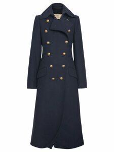 Burberry Military mid-length coat - Blue