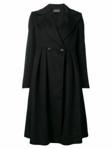 Emporio Armani buttoned midi coat - Black