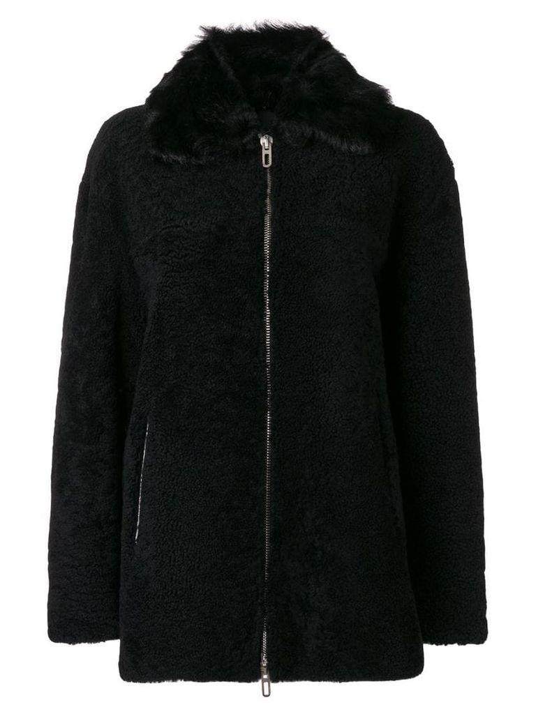 Drome zipped shearling coat - Black