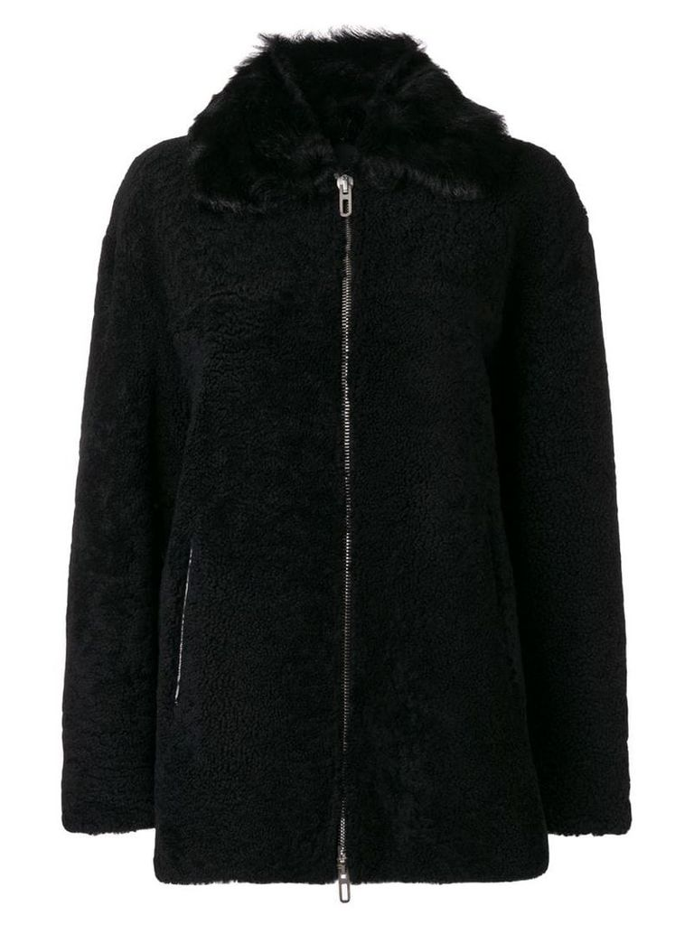 Drome zipped shearling coat - Black