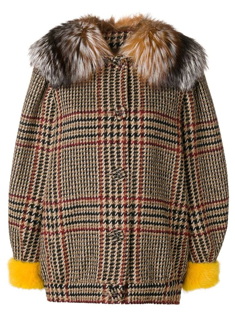 Simonetta Ravizza Irma S short coat - Brown