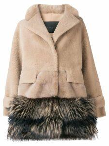 Blancha contrast material coat - Neutrals