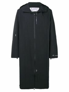 Oakley By Samuel Ross hooded long coat - Black