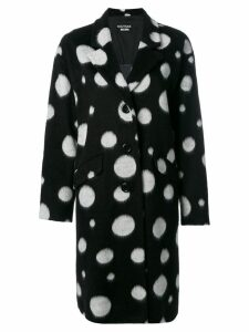 Boutique Moschino oversized spotted coat - Black