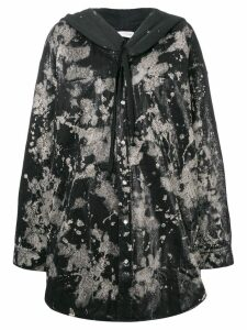 Faith Connexion oversized printed coat - Black