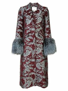 Cinq A Sept long floral print coat - Red