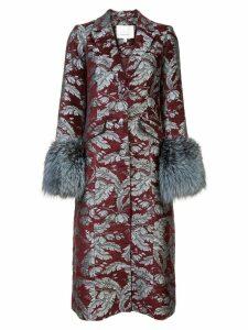 Cinq A Sept long floral print coat - Red