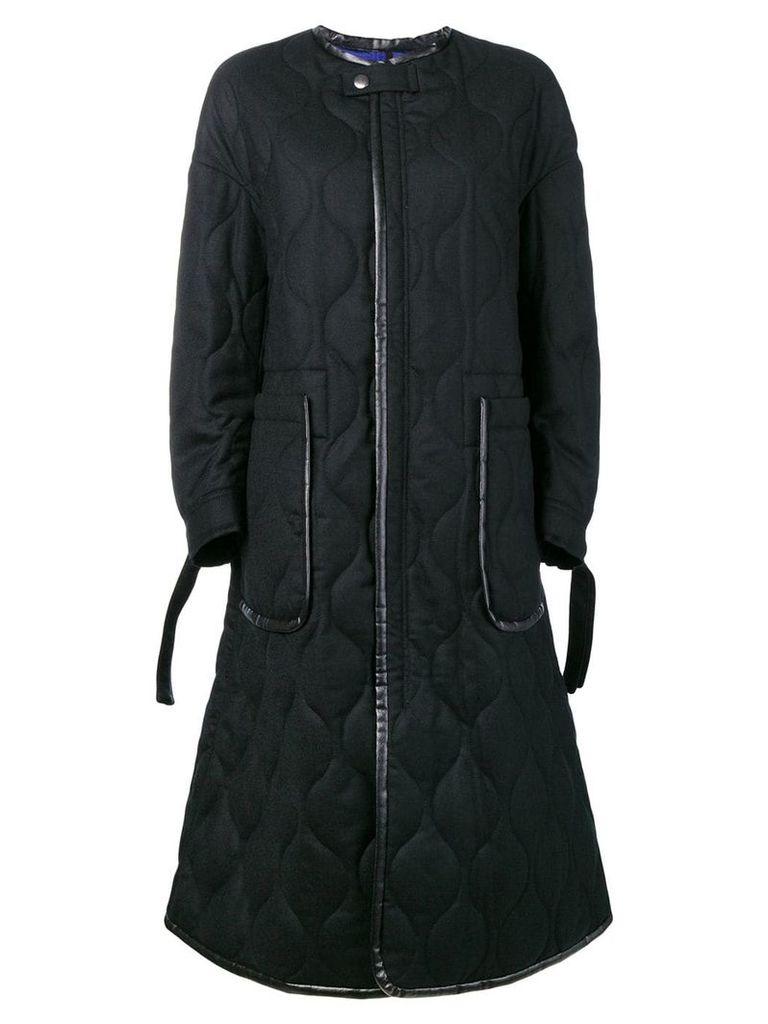 Ujoh collarless coat - Black