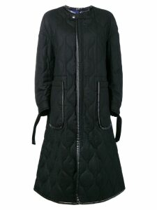 Ujoh collarless coat - Black