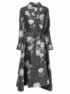 Co floral print coat - Black