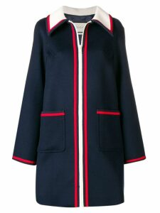 Gucci Sylvie trim coat - Blue